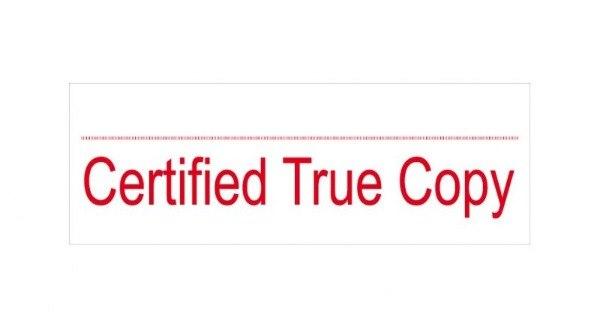 核證副本 Certified True Copies $100份 (開銀行戶口之用)